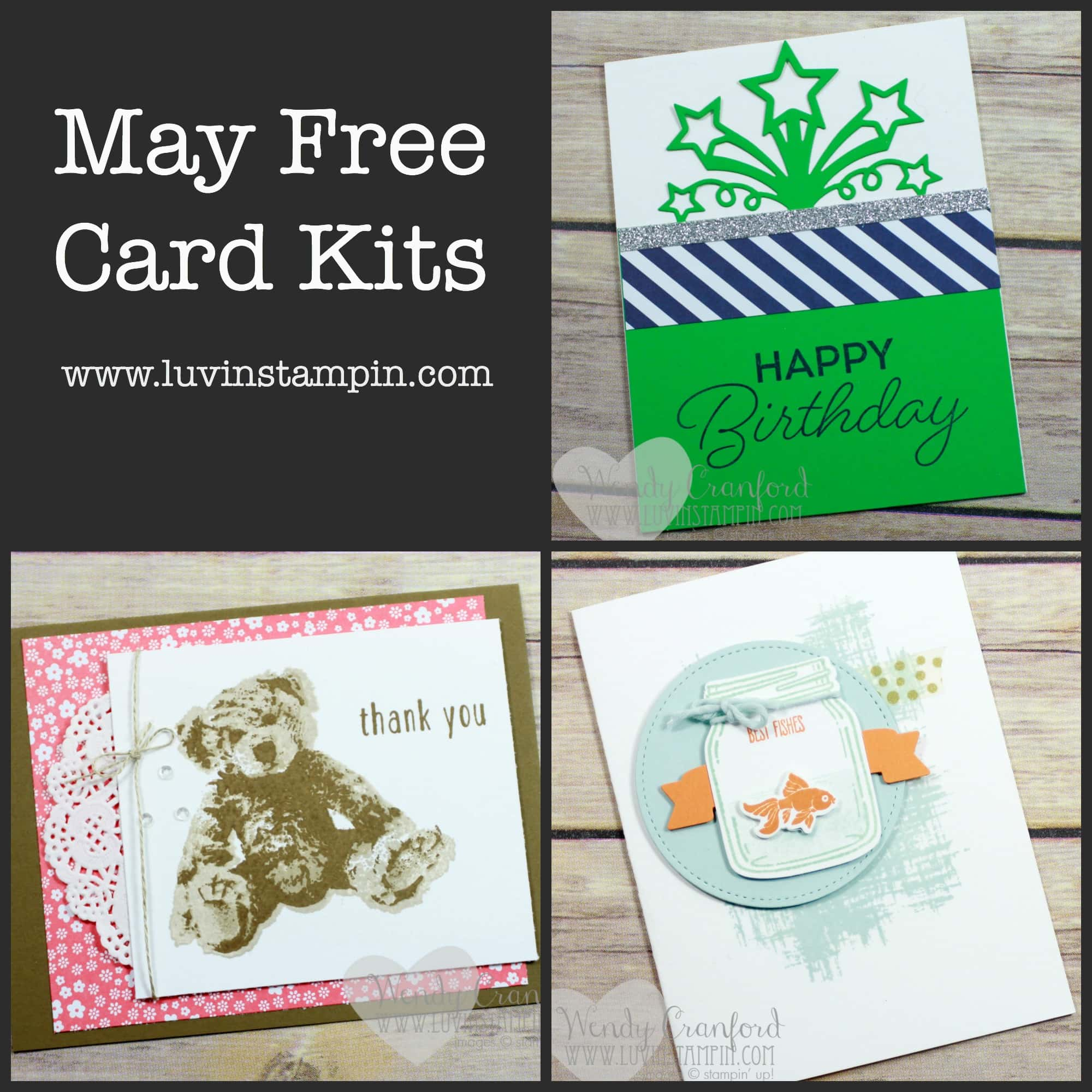 Live Event Today May Free Card Kits - Luvin Stampin