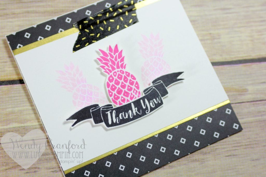 Fun thank you card featuring the Pop Of Paradise stamp set Wendy Cranford luvinstampin.com