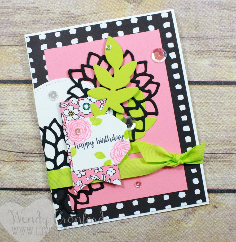 Bright and sassy birthday card created with the new Happy Birthday Gorgeous stamp set from Stampin' UP! Wendy Cranford www.luvinstampin.com