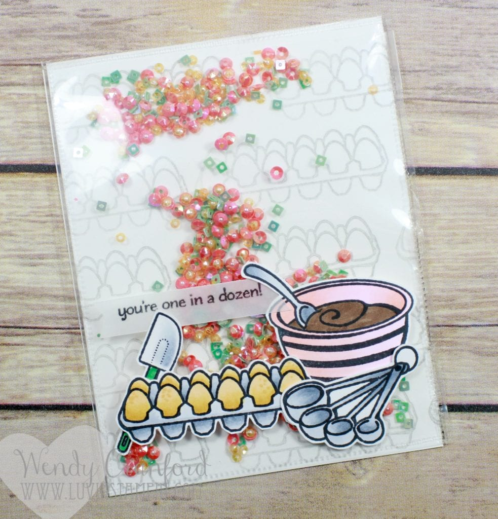 Create a fun and unique shaker card featuring the Perfect Blend stamp set from Stampin' UP! Wendy Cranford luvinstampin.com