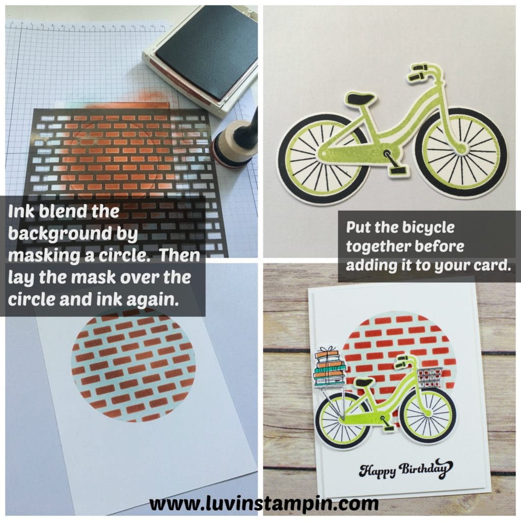Bike Ride bundle is adorable. You can create so many cool cards and crafts featuring this bundle from Stampin' UP! Wendy Cranford www.luvinstampin.com