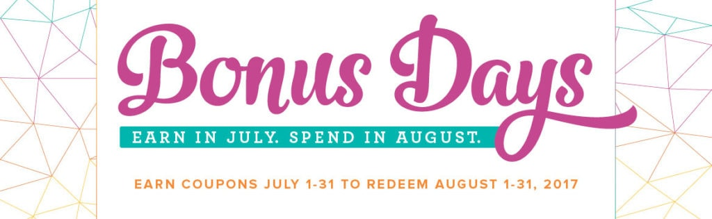 Bonus days. Spend now, save later with Stampin' UP!'s bonus days promotion Wendy Cranford www.luvinstampin.com