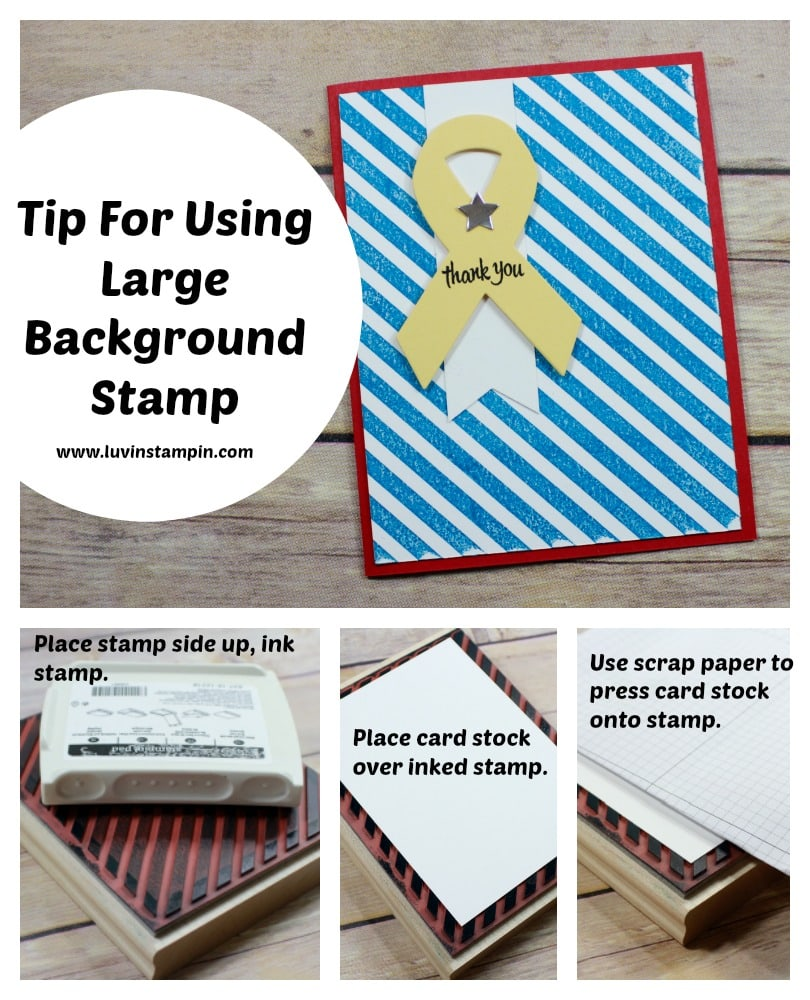 Create beautiful backgrounds using large background stamps from Stampin' UP! Wendy Cranford www.luvinstampin.com