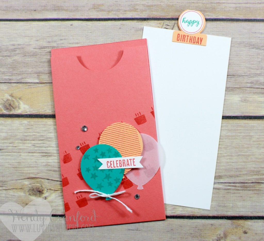 Create a fun interactive birthday card featuring the Tabs for Everything punch and stamp set from Stampin' UP! Wendy Cranford www.luvinstampin.com