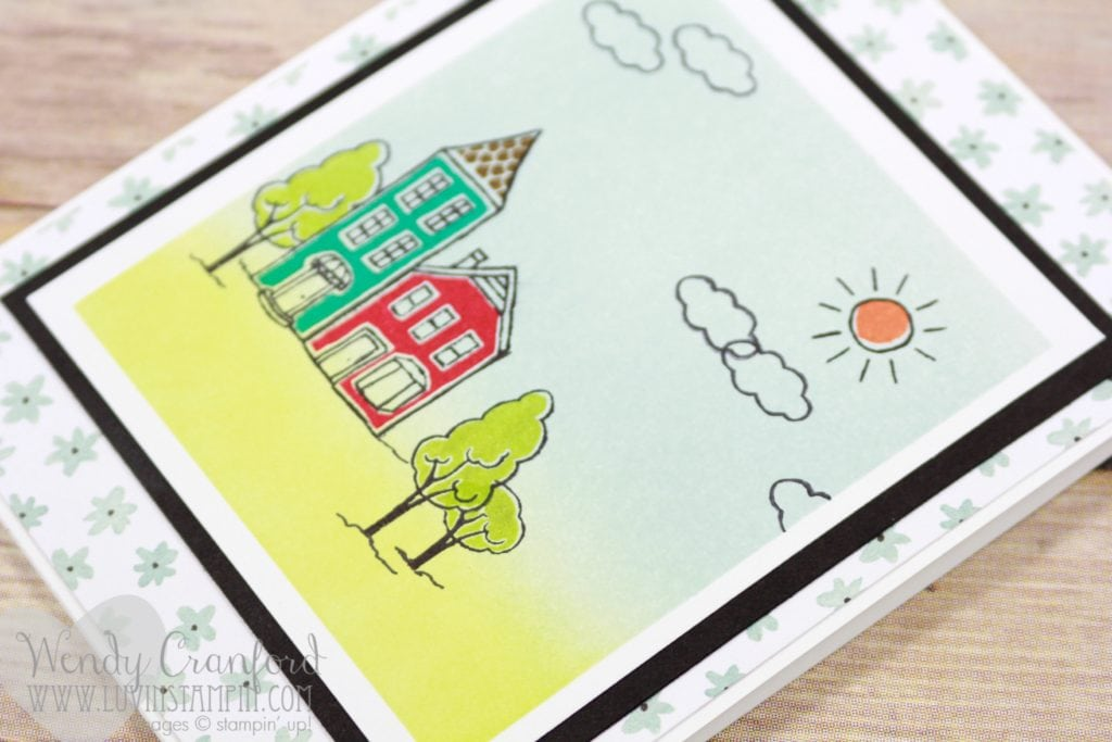 Build a scene feat the In The City stamp set from Stampin' UP! Wendy Cranford luvinstampin.com