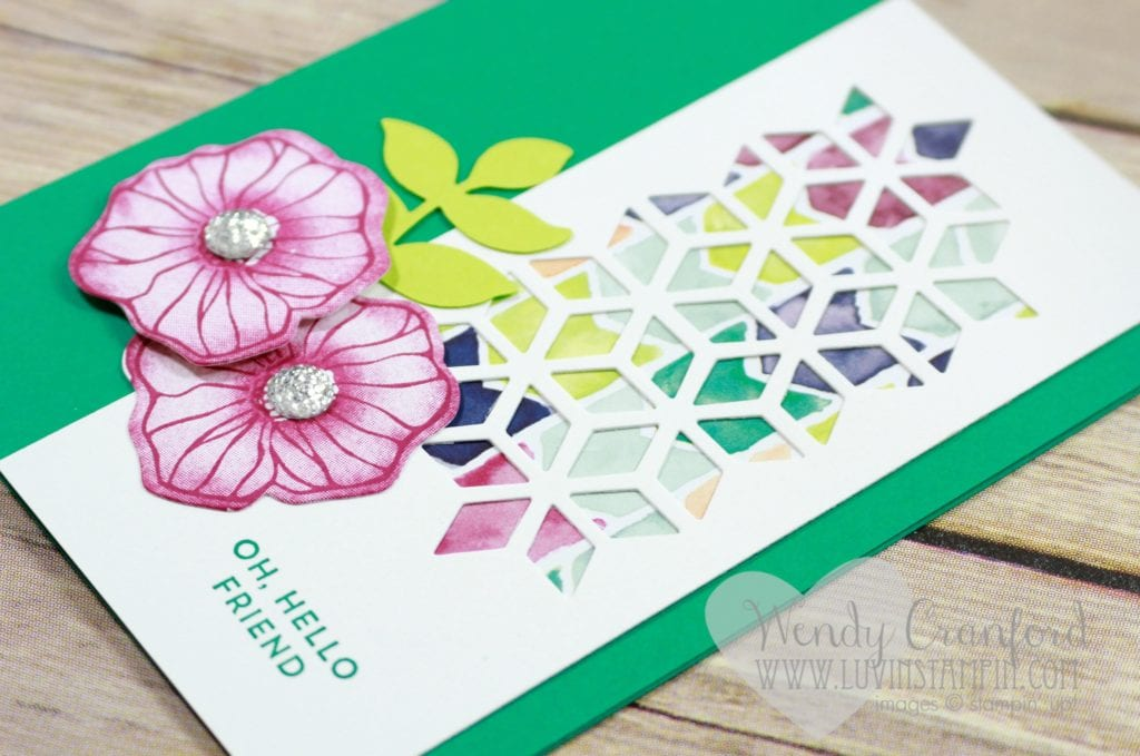 Create a fun and simple card featuring the Oh So Eclectic stamp set from Stampin' UP! Wendy Cranford www.luvinstampin.com