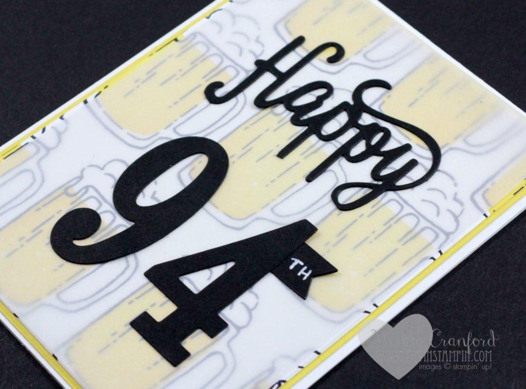 Beer mug masculine birthday card Wendy Cranford luvinstampin.com