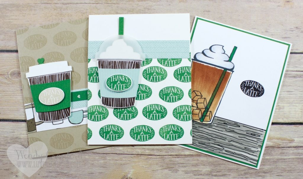 Coffee Café bundle from Stampin' UP! Wendy Cranford luvinstampin.com