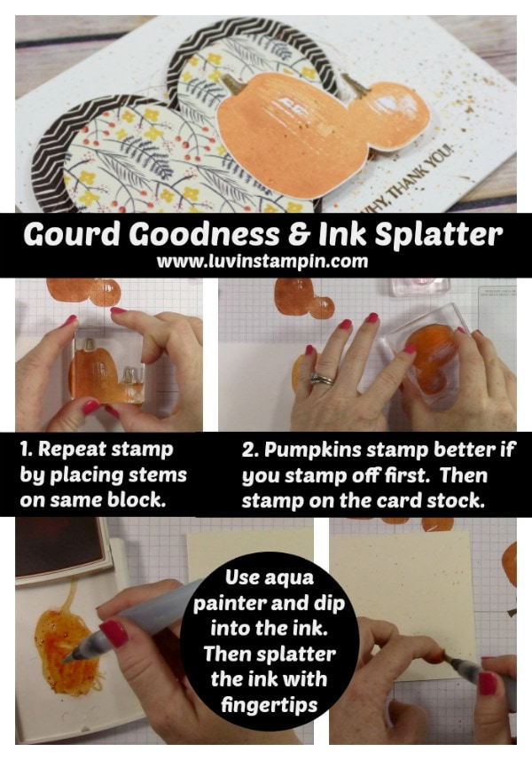 Gourd Goodness stamp set from Stampin' UP! 2017 Holiday Catalog Wendy Cranford www.luvinstampin.com