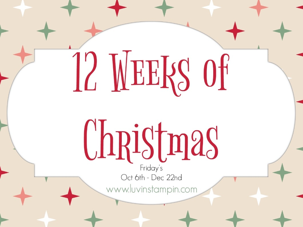 12 weeks of Christmas projects begins today at www.luvinstampin.com Wendy Cranford