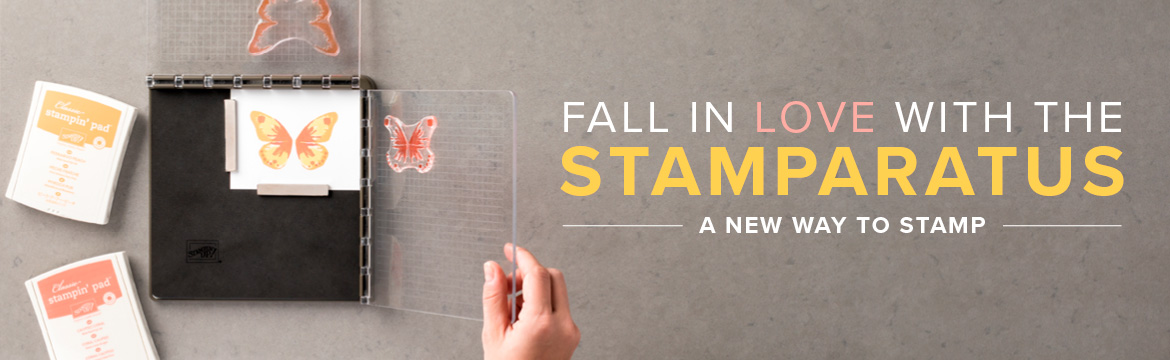 New Stamparatus stamping tool from Stampin' UP! offers a new and easier way to stamp.  Wendy Cranford www.luvinstampin.com