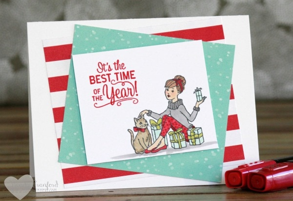Simple coloring with the new Stampin' Blends feature Christmas in the Making stamp set from Stampin' UP! Wendy Cranford www.luvinstampin.com