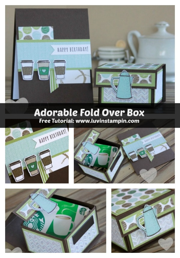 How to make a 3x3x2 fold over box using the Stampin' UP! Simply Scored scoring tool. Wendy Cranford www.luvinstampin.com