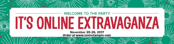 Stampin' UP! Online Extravaganza begins today! Pick up some great deals for the holidays Wendy Cranford www.luvinstampin.com