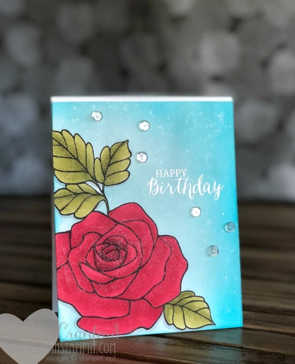 Rose Wonder stamp set colored with Stampin' Blend Markers from Stampin' UP! Wendy Cranford www.luvinstampin.com