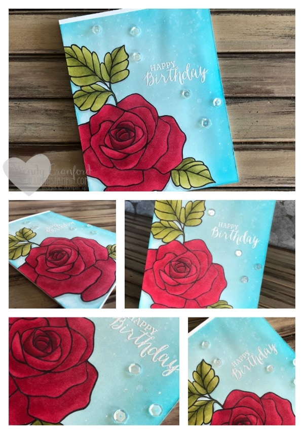Rose Wonder stamp set colored with Stampin' Blend Markers from Stampin' UP! Wendy Cranford luvinstampin.com
