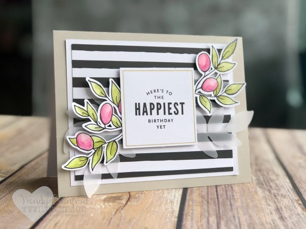 Lots of Happy Card Kit from Stampin' UP! Wendy Cranford www.luvinstampin.com