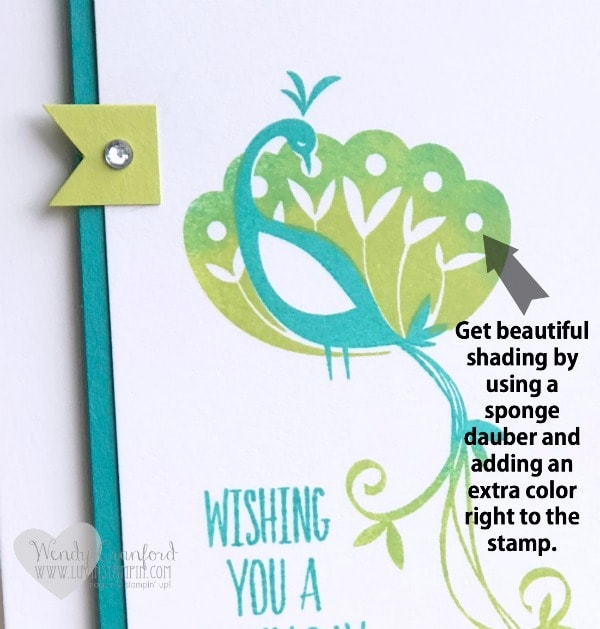 Stampin' UP Beautiful Peacock free stamp set with a $50 minimum purchase starting January 3rd. Wendy Cranford luvinstampin.com