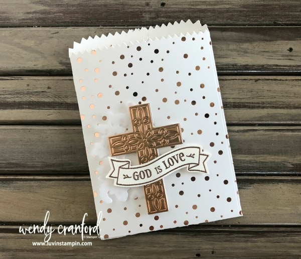 God is love easter gifts feat hold on to hope bundle luvin stampin easter gift bag using the hold on to hope stamp set and crosses of hope framelits negle Image collections