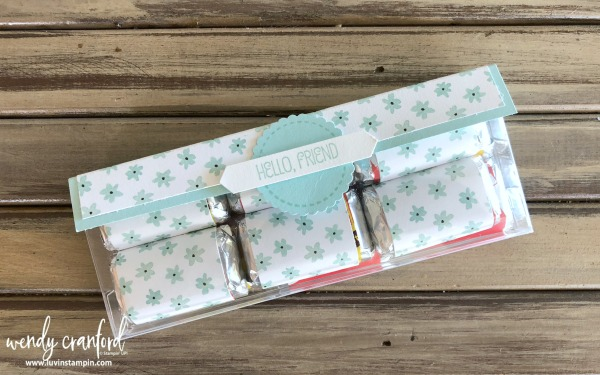 Simple spring treat box using the acetate card boxes from Stampin' UP! wendy cranford www.luvinstampin.com