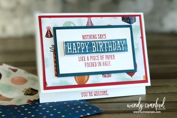 Fun birthday cards featuring Birthday Wit stamp set from Stampin' UP! Wendy Cranford www.luvinstampin.com