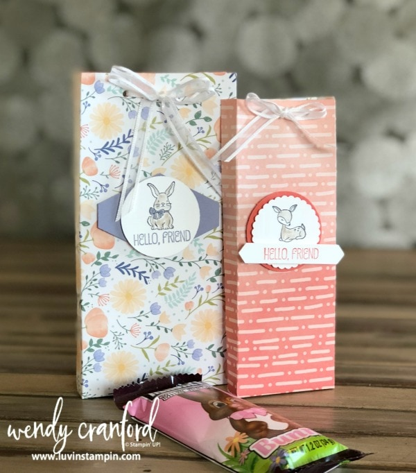 DIY Easter bag and treat goody. #tutorial #stampinup #easter Wendy Cranford www.luvinstampin.com