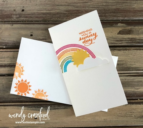 Rainbows & Sunshine bundle from Stampin' UP! makes beautiful cards & clouds Wendy Cranford www.luvinstampin.com