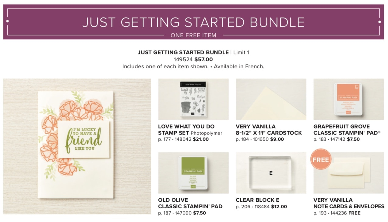 Share What You Love Bundle available now in starter kit Wendy Cranford www.luvinstampin.com