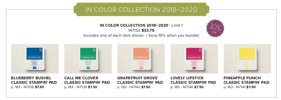 Stampin' UP! New In Colors 2018-2020 #stampinup #incolors