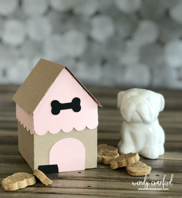 Adorable doggy treat houses to store dog treats in for #nationalpetday Wendy Cranford www.luvinstampin.com
