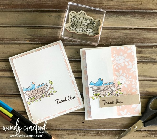 Flying home stamp set used to create these cards. Find easy and simple ways to step up a card. Wendy Cranford www.luvinstampin.com