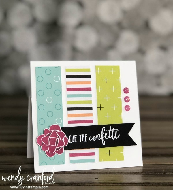 One Stamp Wonder Series featuring Picture Perfect Birthday Stamp Set from Stampin' UP! Wendy Cranford www.luvinstampin.com