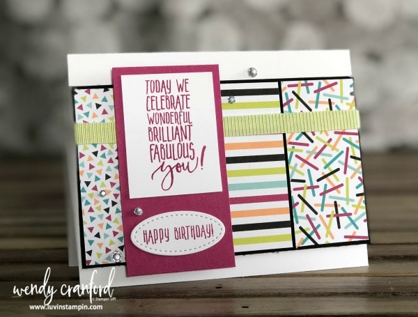 One Stamp Wonder Series featuring Picture Perfect Birthday stamp set Wendy Cranford www.luvinstampin.com