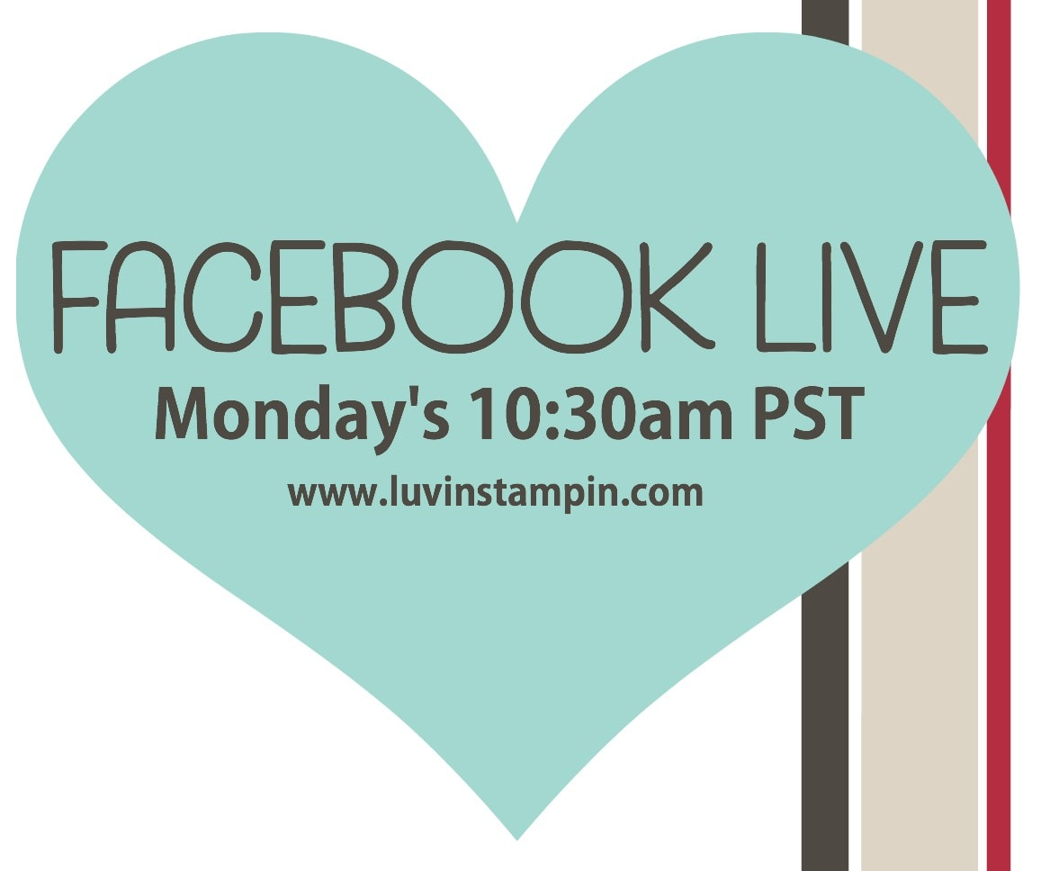 Facebook live events every Monday at 10:30am PST