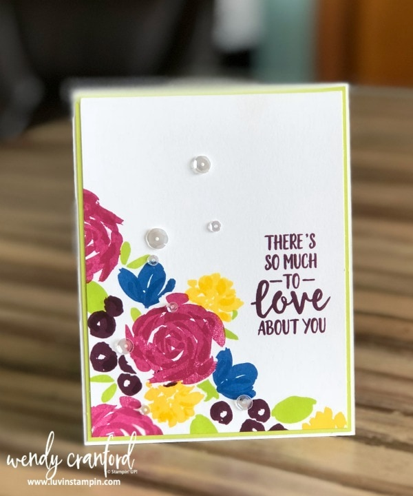 Simple one layer cards featuring fun color combos and Abstract Impressions stamp set from Stampin' UP! #gdp140 #luvinstampin #stampinup #onelayercard Wendy Cranford www.luvinstampin.com