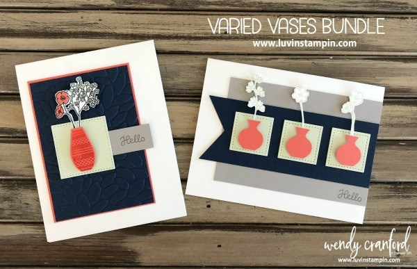 Varied Vases Bundle from Stampin' UP! available to purchase June 1st Wendy Cranford www.luvinstampin.com