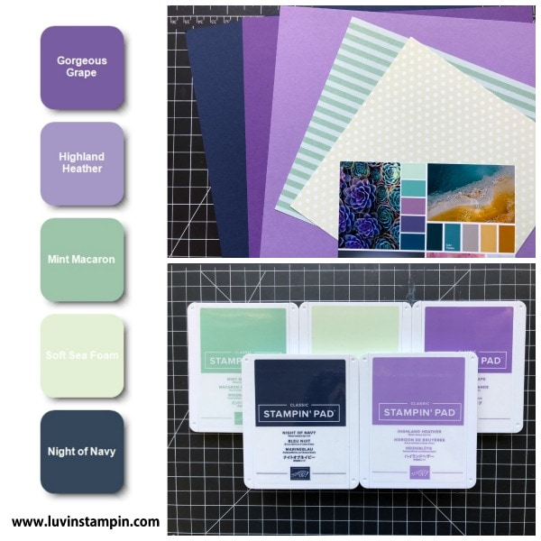 Color inspiration for card making featuring Stampin' UP! ink colors Wendy Cranford www.luvinstampin.com