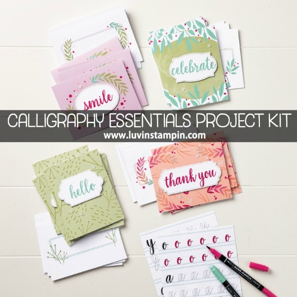 Calligraphy Essentials Project Kit featured on Facebook live Wendy Cranford luvinstampin.com