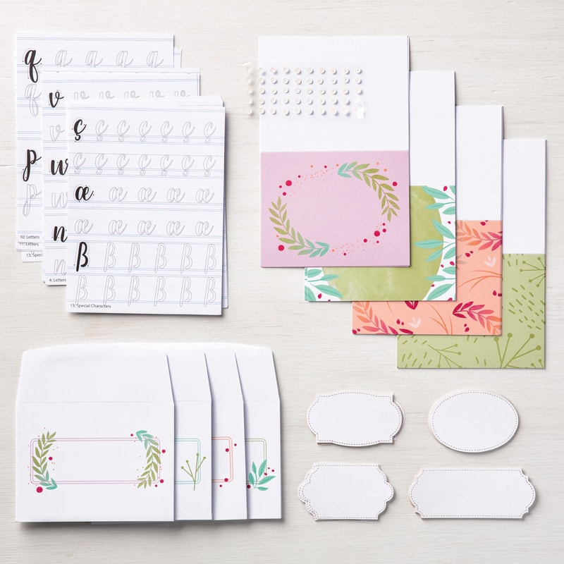 Calligraphy Essentials Project Kit featured on Facebook live Wendy Cranford www.luvinstampin.com