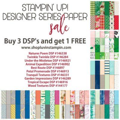 4 Days Left… Designer Series Paper Sale