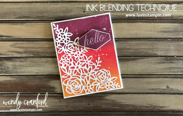Ink blending technique featuring beautiful summer colors from Stampin' UP! Wendy Cranford www.luvinstampin.com #gdp141 #luvinstampin #stampinup #crafts