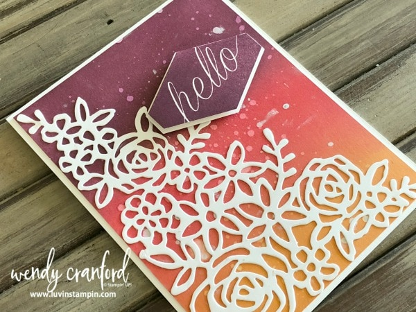 Ink blending technique featuring beautiful summer colors from Stampin' UP! Wendy Cranford luvinstampin.com
