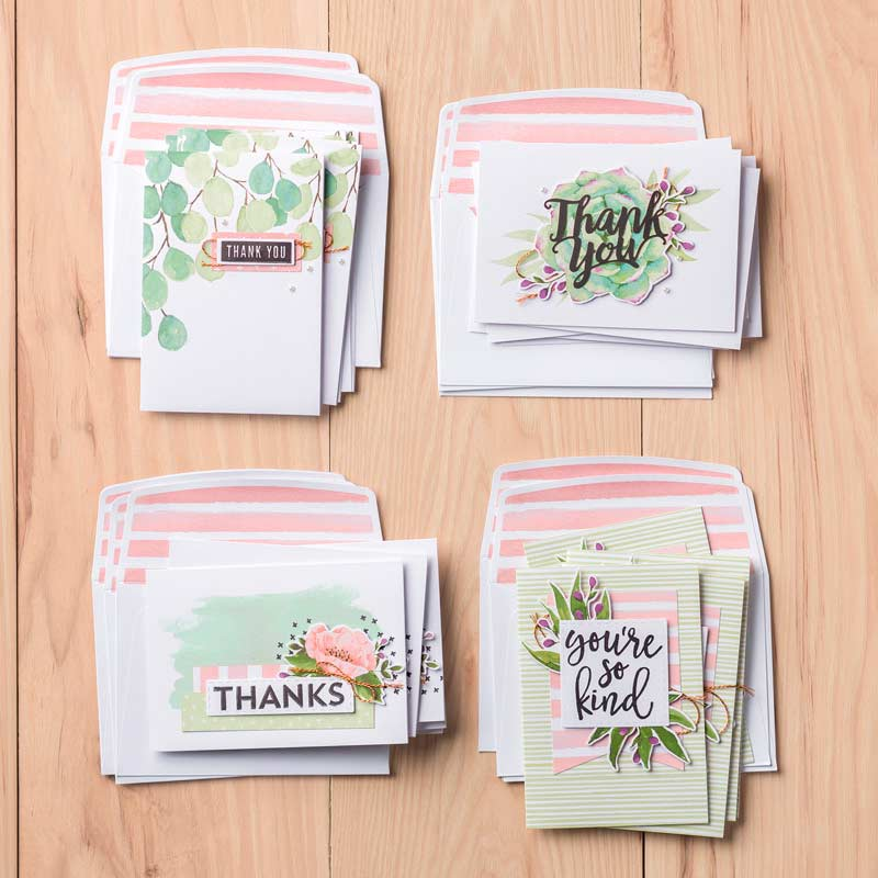 Notes of Kindess card kit from Stampin' UP! Wendy Cranford www.luvinstampin.com