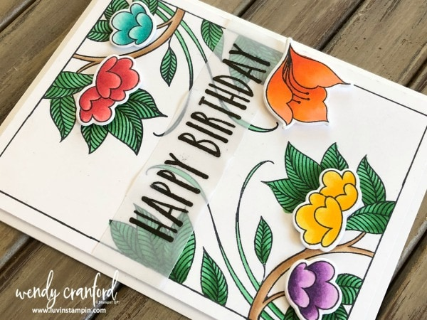 Serene Garden stamp set from Stampin' UP! #luvinstampin #stampinup #coloring Wendy Cranford luvinstampin.com