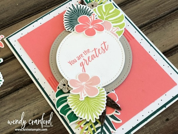 Tropical Chic Bundle from Stampin' UP! for challenge #GDP143 Wendy Cranford luvinstampin.com