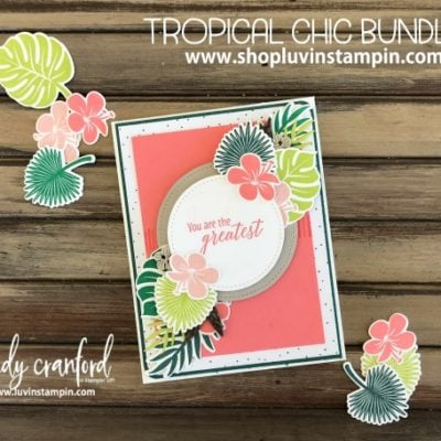 Tropical Chic Bundle from Stampin' UP!  GDP 143