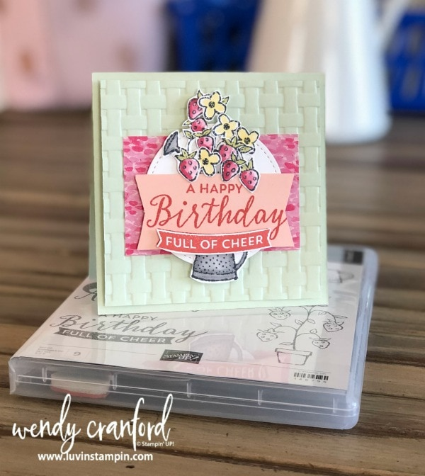 August 2018 Exclusive thank you gift FREE Springtime Stroll stamp set from Stampin' UP! with purchase Wendy Cranford www.luvinstampin.com