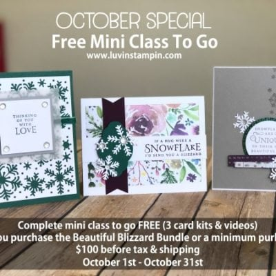 October Special FREE MINI CLASS TO GO