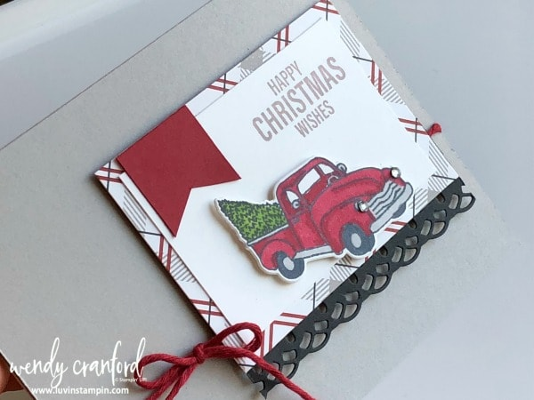 Christmas card using the Festive Farmhouse bundle from Stampin' UP! Wendy Cranford luvinstampin.com #christmascard #farmhousechristmas #gdp154