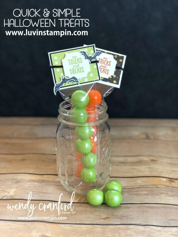Easy halloween treats. Wendy Cranford luvinstampin.com #halloweentreats #halloweenparty #easyhalloweentreats